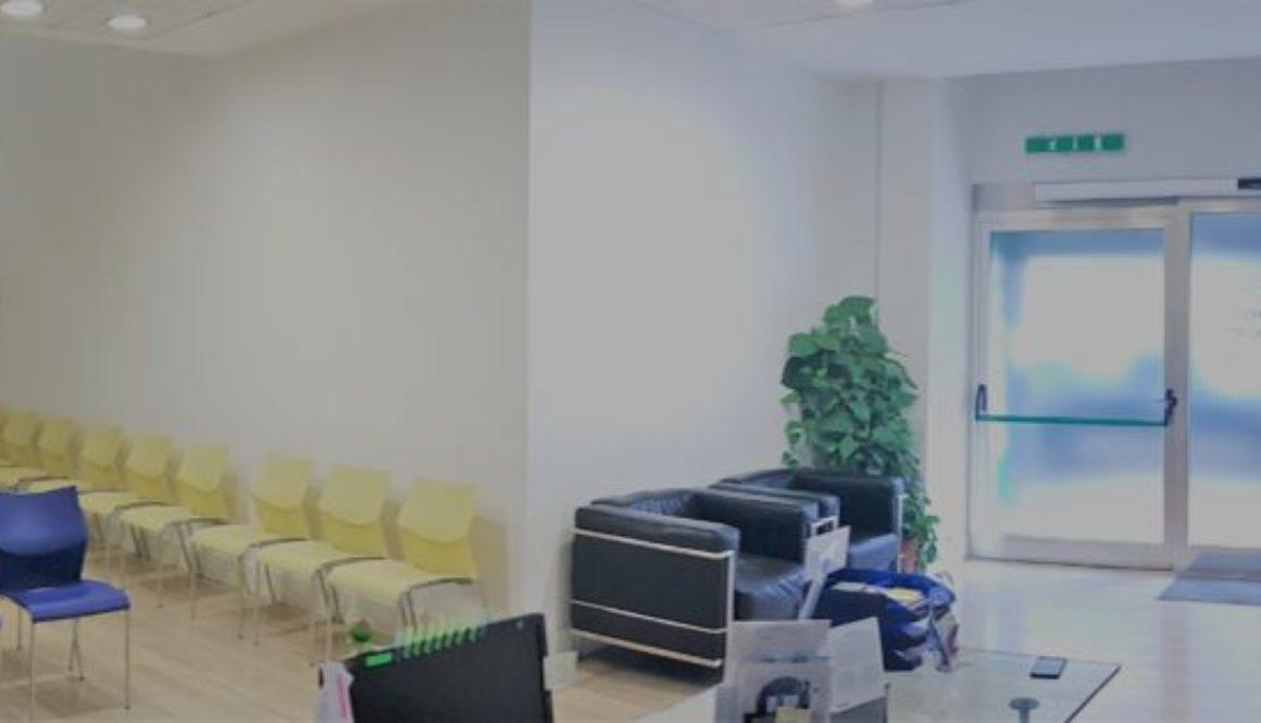 Ingresso e sala poliambulatorio